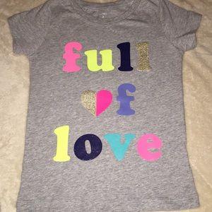 NWOT Full of love T shirt